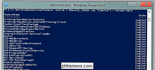 Hur man hanterar Windows-funktionerna från PowerShell i Windows