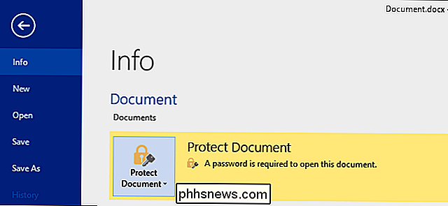 Come proteggere da password documenti e PDF con Microsoft Office