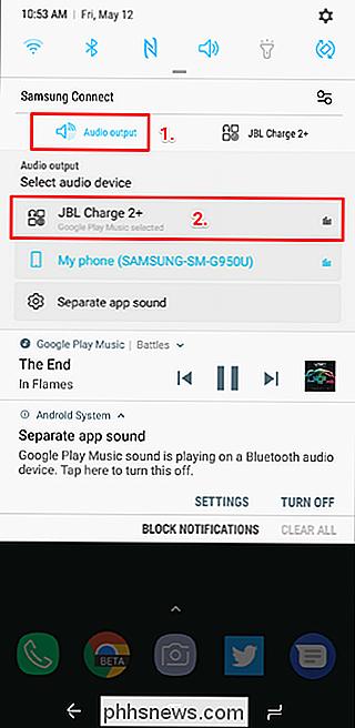 Como reproduzir o áudio Bluetooth a partir de apenas um