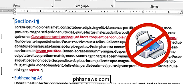 Comment imprimer un document Word sans le suivi des modifications Marques