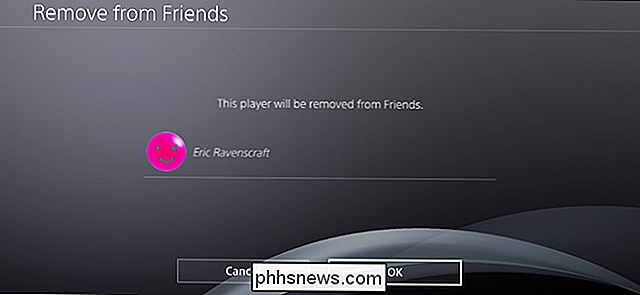 Come rimuovere qualcuno dall'elenco di PlayStation Friends