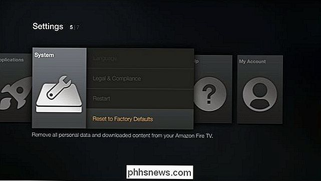 amazon fire tv stick zurücksetzen