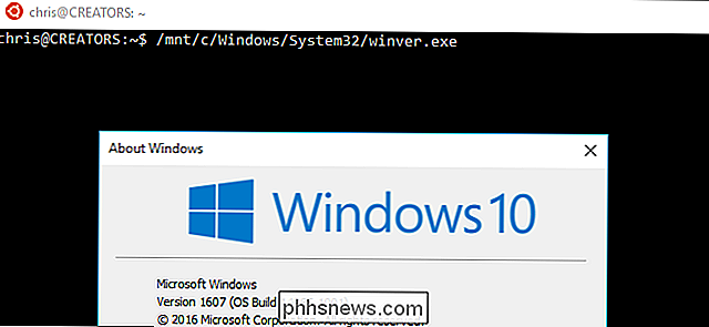 Cómo ejecutar programas de Windows desde Bash Shell de Windows 10