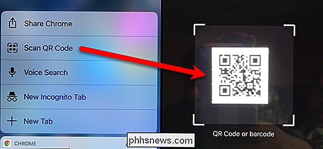 Cómo escanear un código QR con Chrome en su iPhone