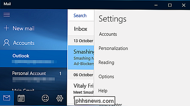 Come configurare e personalizzare gli account di posta elettronica in Windows 10