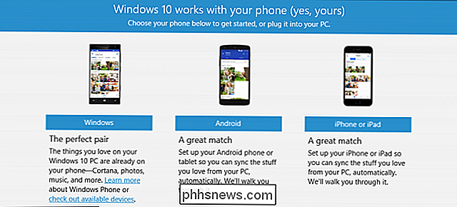 Comment configurer l'application Phone Companion sous Windows 10 sur Android et iOS