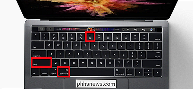 Een screenshot maken van de Touch Bar van de MacBook