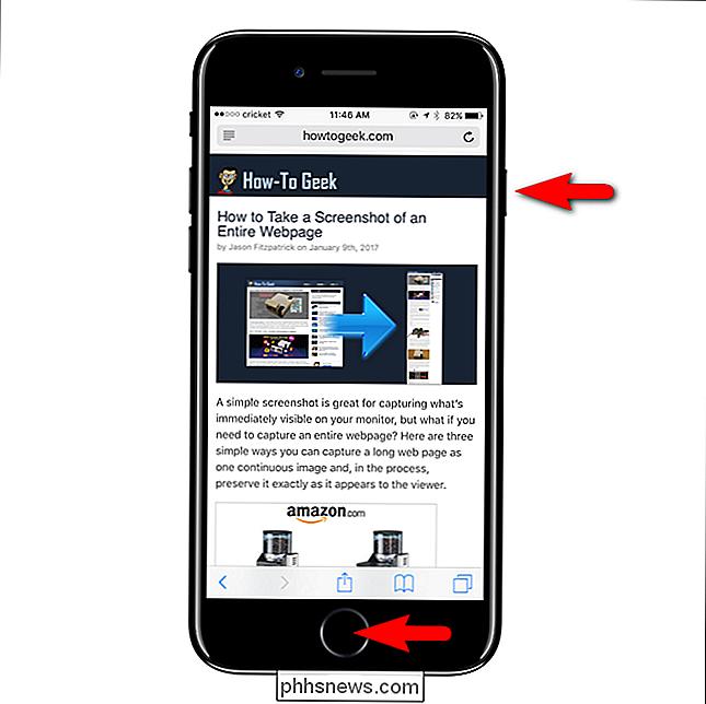 screenshot maken met iphone