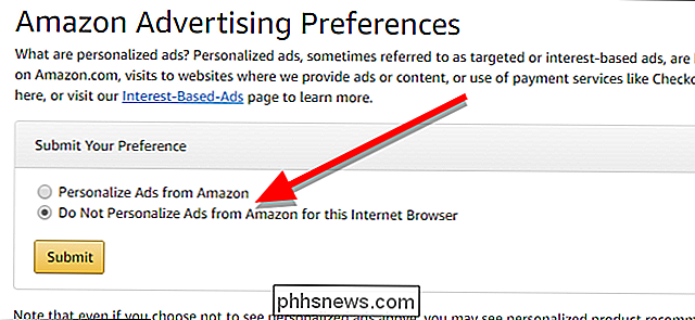 Amazon's gepersonaliseerde advertenties op internet uitschakelen