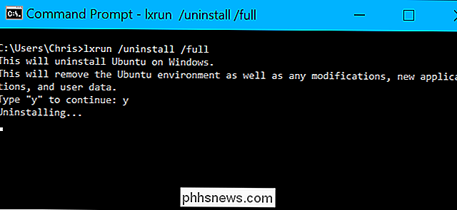 Como desinstalar (ou reinstalar) o Ubuntu 10 Bash Shell do Windows 10