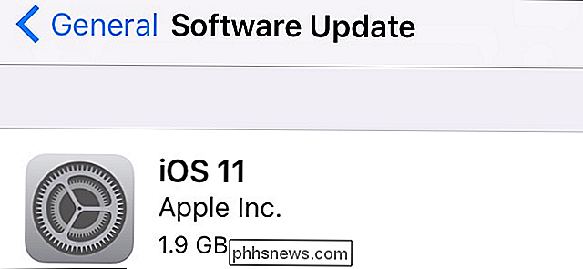 Cómo actualizar su iPhone o iPad a iOS 11