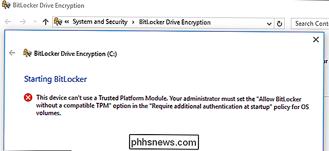 Come utilizzare BitLocker senza un Trusted Platform Module (TPM)