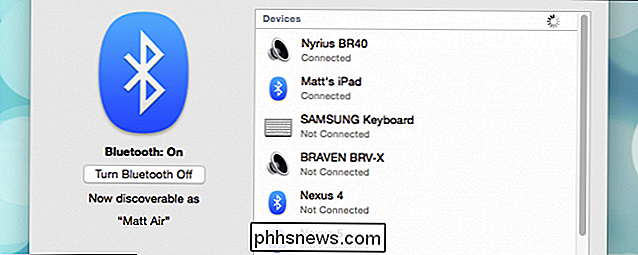 Come utilizzare il trasferimento di file Bluetooth tra OS X e dispositivi Android 5.0