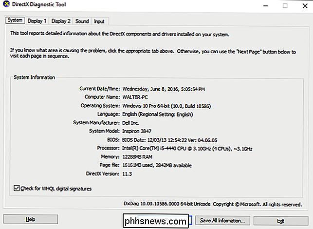 Como usar o diagnóstico do DirectX no Windows - pt phhsnews com