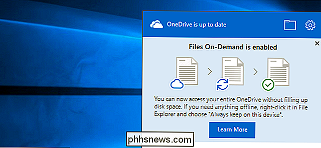 Come utilizzare i file OneDrive On-Demand nell'aggiornamento autunnale di Windows 10
