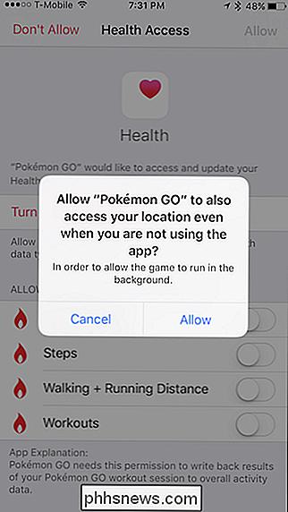 hvordan ser pokemon go appen ud