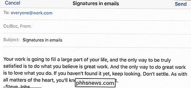 Cómo usar firmas en Apple Mail en su iPhone o iPad