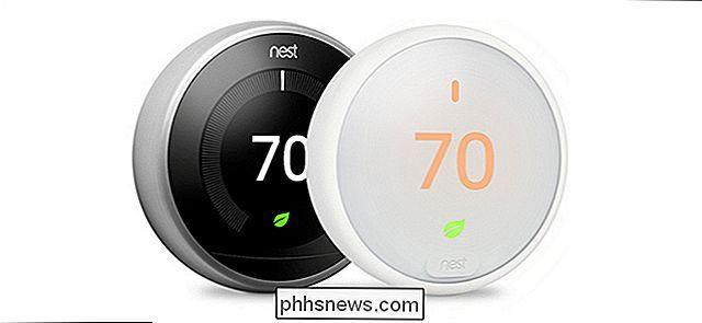 Thermostat Nest E et thermostat Nest: quelle différence?