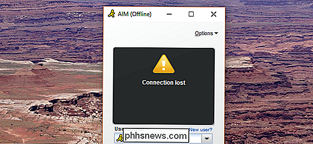 RIP AIM, meldingsprogrammet AOL Never Wanted