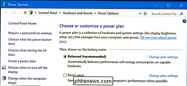 Soll der Balanced, Power Saver oder High Performance Power Plan unter Windows verwendet werden?