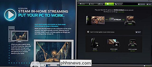 Steam In-Home Streaming vs NVIDIA GameStream: quelle différence?