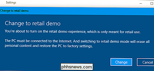 Stupid Geek Tricks: Come abilitare la modalità demo retail nascosta di Windows 10