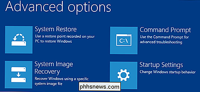 Drie manieren om toegang te krijgen tot Windows 8 of 10 Boot Options Menu