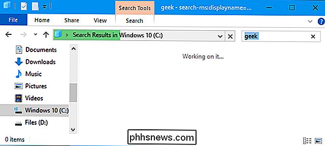 326a5aadf2 ... estiver pesquisando todo o seu C  drive - você verá uma barra de  progresso enquanto o Windows examina todos os arquivos no local e verifica  para ver ...