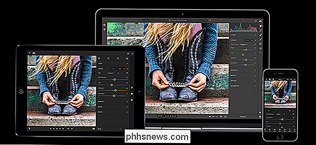 ¿Qué son las aplicaciones para dispositivos móviles Photoshop Express, Fix, Mix y Sketch?