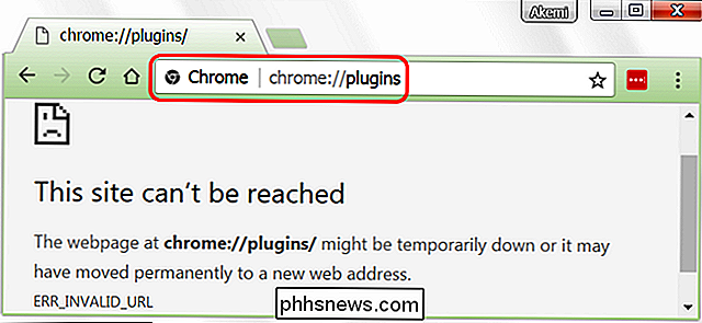 Was passiert mit chrome: // Plugins in Google Chrome?