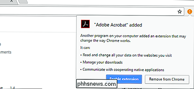 Adobe Acrobat Extension Chrome vill mig installera?