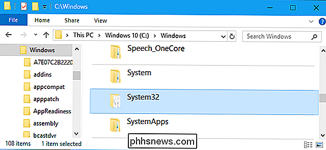 Che cos'è la directory System32? (e Why You Should Not Delete It)