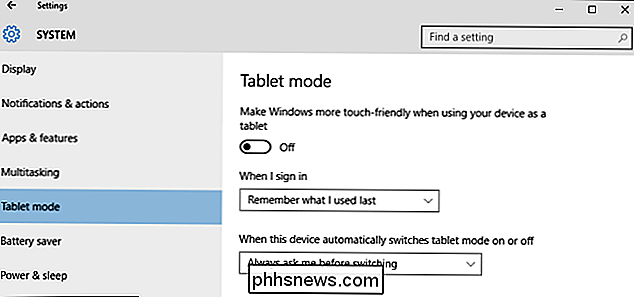 Wat is de tabletmodus in Windows 10 en Hoe u hem in- en uitschakelt