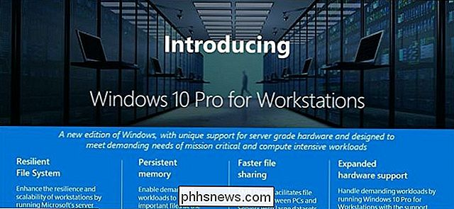 Che cos'è Windows 10 Pro per workstation e come è diverso?