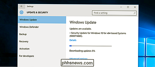 Lo que debe saber sobre Windows Update en Windows 10