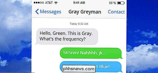 Hvorfor er noen iMessages Green og Some Blue på min iPhone?