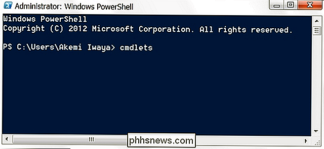 Por que os comandos do Windows PowerShell são chamados de Cmdlets?