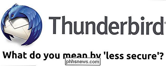Pourquoi Google dit Mozilla Thunderbird est-il moins sûr