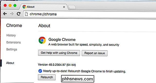 Vous devez effectuer une mise à niveau vers Chrome 64 bits